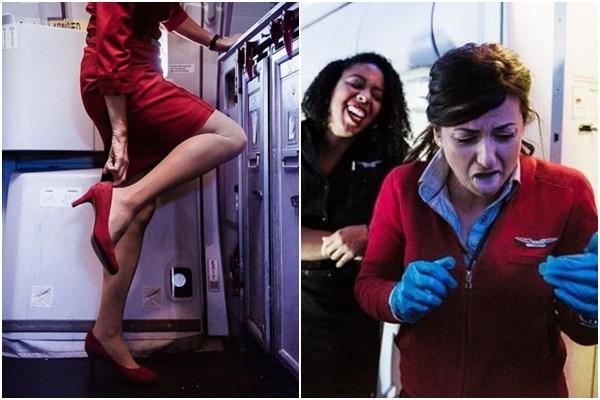 ▲▼空姐=光鮮亮麗?偷補妝、穿高跟鞋超酸 她紀錄下辛酸面。(圖/Molly Choma授權提供)