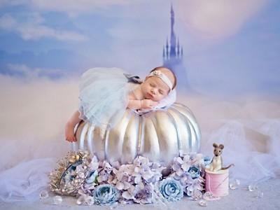 每一個女孩的夢想!美國攝影師將嬰兒變身迪士尼公主