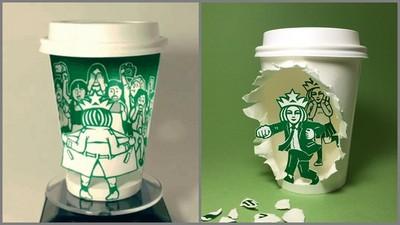 超狂「星巴克剪紙藝術」,你每天喝掉的不是咖啡…是創意