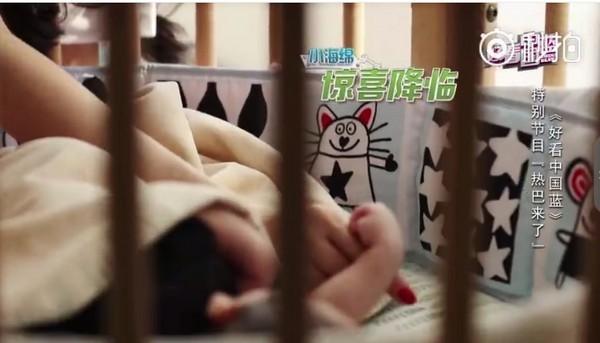 ▲小海綿剛出生時身型嬌小,現在已經白白胖胖。(圖/翻攝自黃曉明微博)