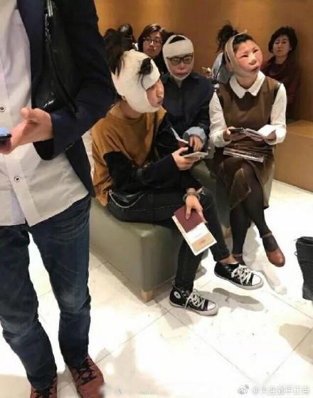 ▲▼整到海關認不出來!強國女赴韓變臉 辨識不過呆坐機場。(圖/翻攝自微博)