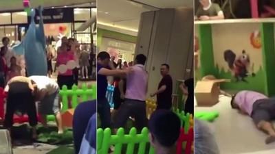 孩子搶玩具,家長拼輸贏!大人們兒童遊戲區鬥毆到倒地