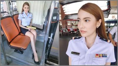 泰國「尖下巴」公車售票員,老司機棄搭捷運朝聖…結果假的