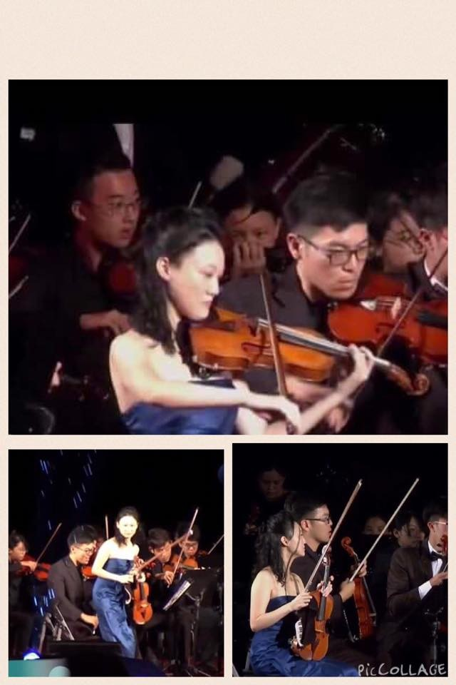 ▲▼國慶音樂會放演奏家淋雨!首席痛心小提琴泡水…中途離場。(圖/翻攝自臉書/馮楚軒)