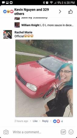 ▲美國密西根女子用一包四川醬換到一輛福斯轎車。(圖/翻攝自Justin Chiat臉書)