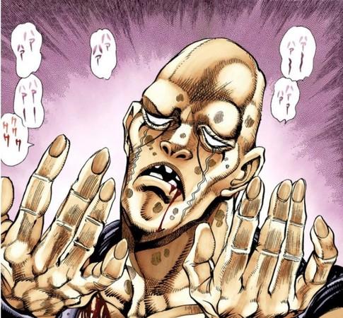 ▲網友聯想到《JOJO的奇妙冒險》中2個右手的倒吊男。(圖/翻攝自日網、推特)