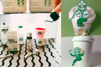 星巴克創意萌炸!迷你版咖啡商品集點送