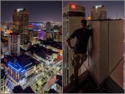 為了這些照片!攝影師偷闖酒店頂樓,砰一聲…來看看他的遺作