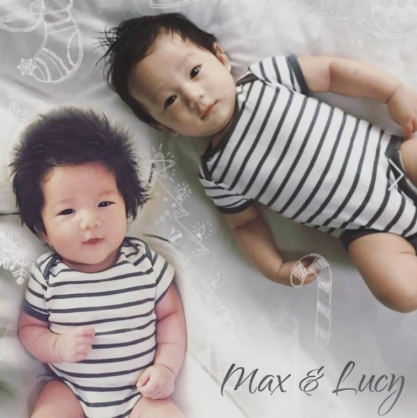 ▲Lucy頭髮留長了。(圖/翻攝自Max的Instagram)