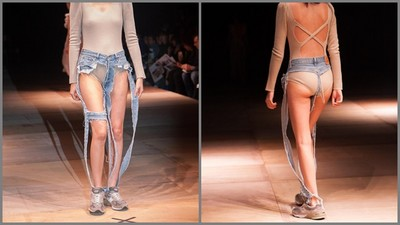 看見底褲的時尚!牛仔褲要「破到失控」才夠潮,去夜店就醬穿吧