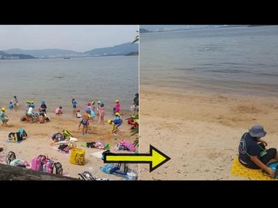 幼兒園郊遊竟然還淨灘,香港網友驚:果然又是日本人!
