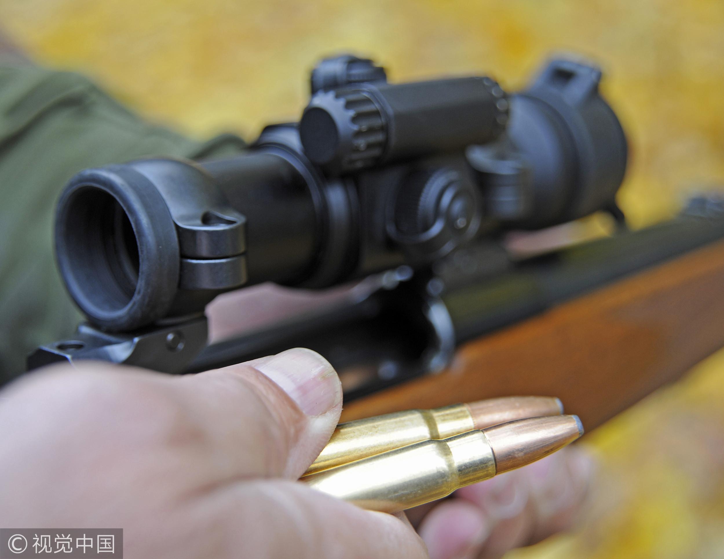 ▲打靶射擊靶場槍狙擊瞄準。(圖/視覺中國)