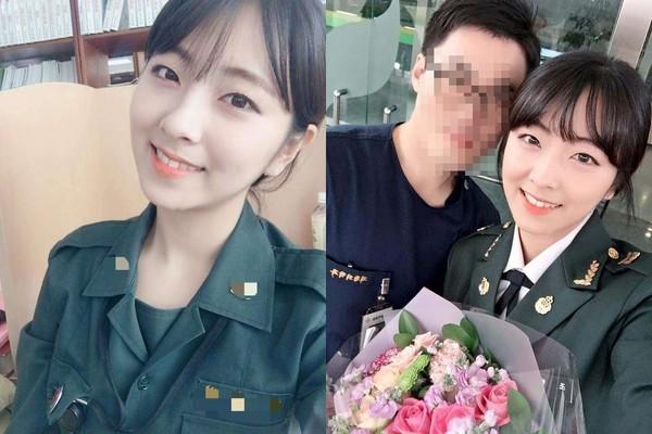 ▲南韓超正士官長,讓網友都想「簽下去」。(圖/翻攝自조한별 Instagram)