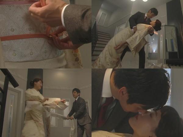 ▲綾瀨遙第二集和老公玩和服PLAY。(圖/翻攝自NTV直播)