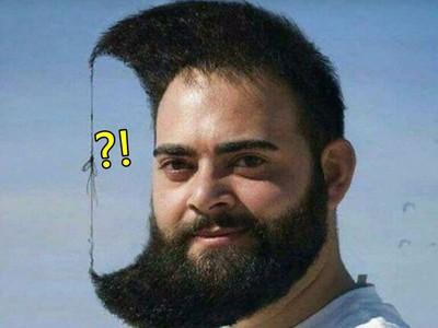 「打結新月頭」87登場!把頭髮跟鬍子綁在一起就完成了唷