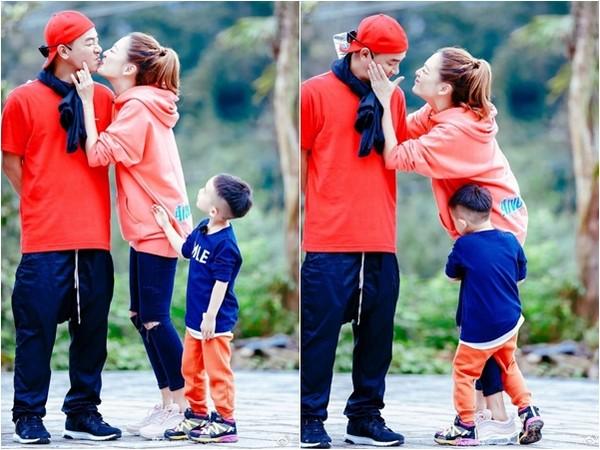 ▲▼應采兒現身《爸爸去哪兒》,陳小春、Jasper父子爭奪寵愛。(圖/翻攝自《新浪娛樂》)