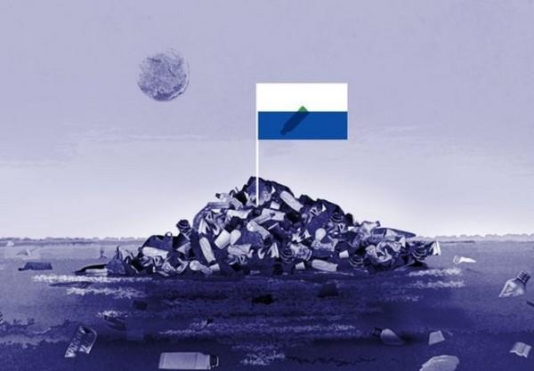 ▲▼ 北太平洋「垃圾島」要獨立建國!(圖/翻攝自推特/@rosamedea)