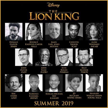 真人版《獅子王》卡司超強,女主角是碧昂絲。(圖/翻攝自迪士尼粉絲專頁)
