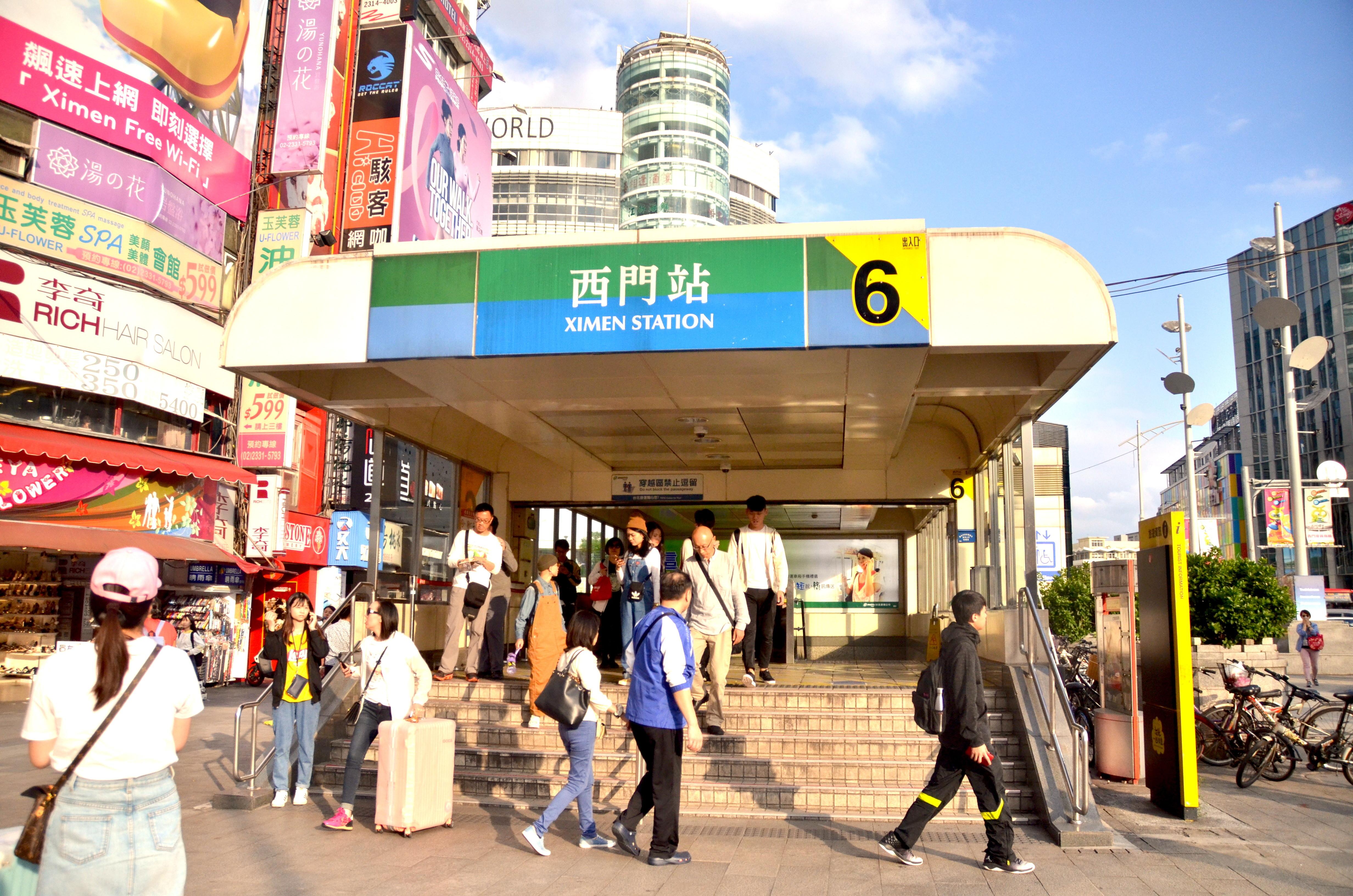 ▲▼西門町、西門捷運站、捷運西門站、六號出口、一號出口、6號出口、1號出口。(圖/記者盧映慈攝)