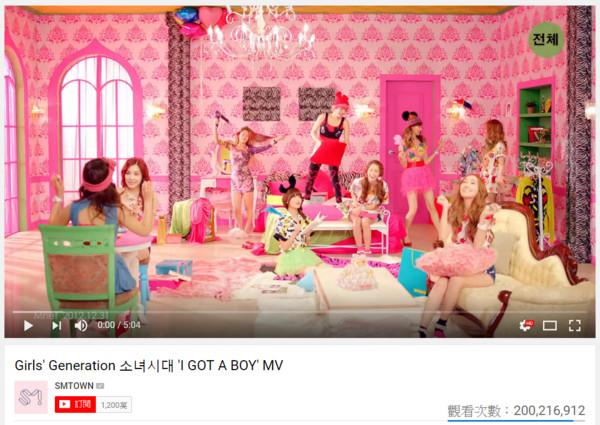▲《I GOT A BOY》MV點擊率突破2億。(圖/翻攝自SMTOWN YOUTUBE)