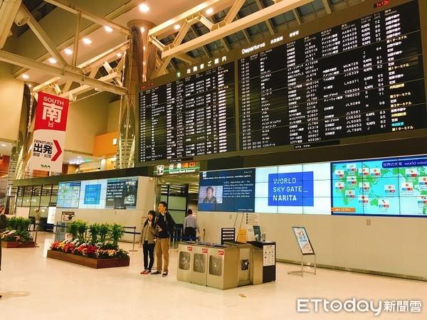 ▲▼成田機場第二航廈出境大廳,成田國際機場第二航廈,日本東京成田機場。(圖╱記者蔡玟君攝)