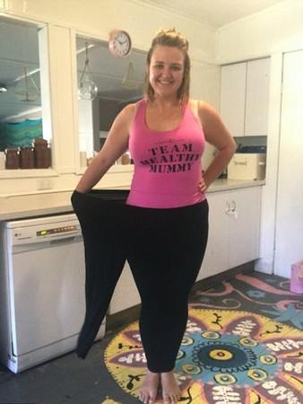 ▲美国妈妈甩肉50公斤。(图/翻摄自dailymail)