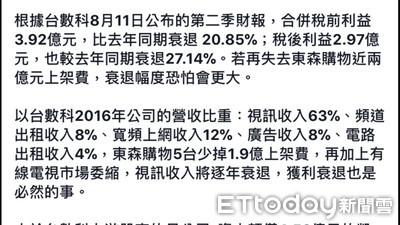 東森購物下架 蔡玉真:台數科金融負債比率恐會提高