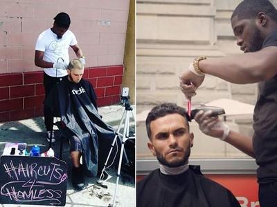 暖男理髮師為街友「義剪」,一毛錢不收最後賺到一間店