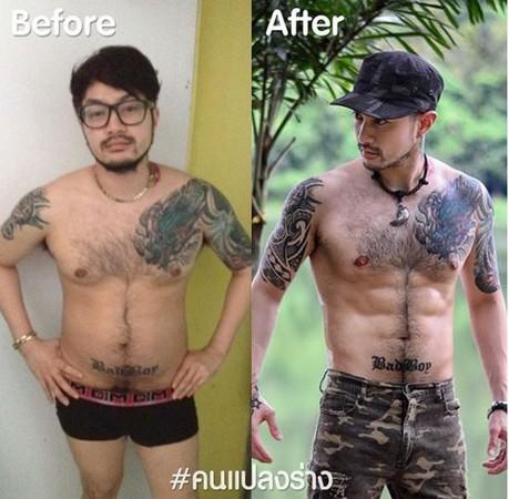 ▲▼泰國肥宅男甩10公斤,轉變猛男小鮮肉。(圖/翻攝自IG/Ken Laycut)