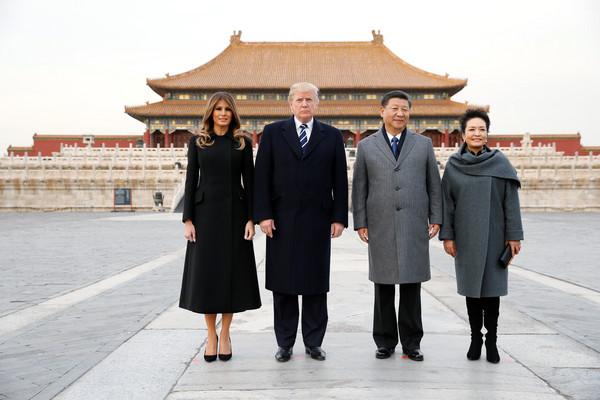 ▲▼ 川普亞洲行第3站,8日飛抵北京,於北京故宮博物院茶敘。(圖/路透社)