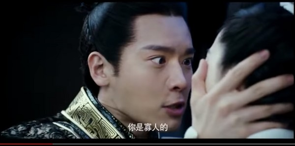 ▲范冰冰被高雲翔飾演的秦王要求「妳是寡人的!」(圖/翻攝自YouTube)
