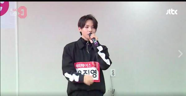 ▲禹真榮入選《MIXNINE》。(圖/翻攝自JTBC)