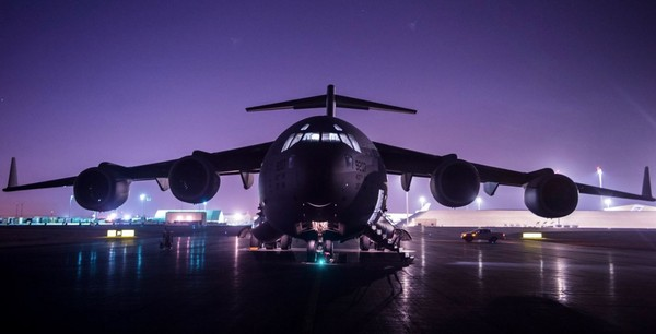 ▲▼C-17運輸機。(圖/翻攝自U.S. Air Forces Central Command粉絲專頁)