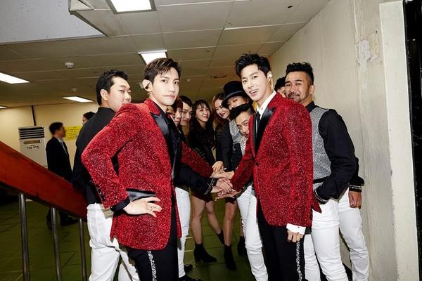 ▲東方神起是至今登上《紅白》次數最多的南韓團體。(圖/翻攝自東方神起臉書)