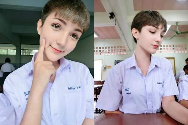 ▲▼泰國16歲少年Bombay長得超像洋娃娃。(圖/翻攝自Bombay臉書)