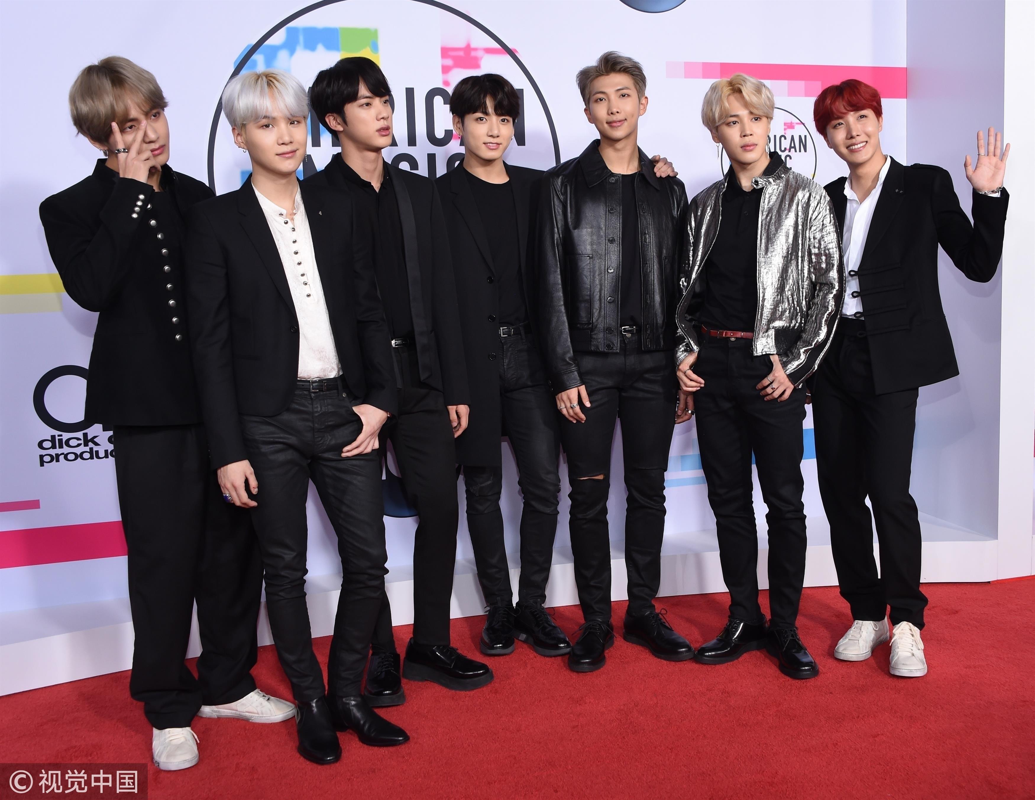 ▲防彈少年團(BTS)出席2017全美音樂獎(AMAs)。(圖/CFP)
