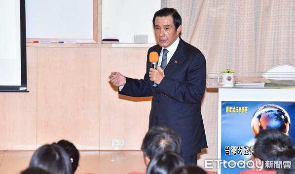 馬英九東吳大學首場演講。(圖/記者李毓康攝)