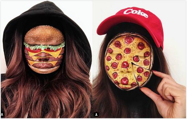 ▲加拿大化妝師把臉變成食物。(圖/翻攝自IG/mimles)