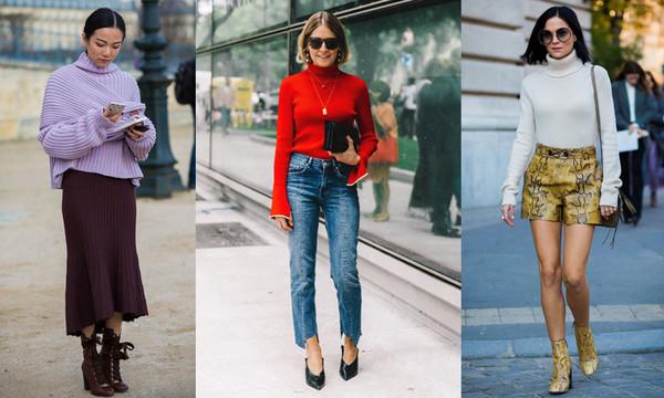 ▲时尚潮人的秋冬必备款,无论内搭或是单穿都时尚的高领毛衣。(图/bella侬侬提供)