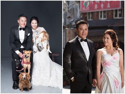 恭喜!江宏恩登記結婚 抱毛孩拍婚紗