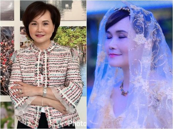 ▲▼沈春華慶祝結婚25周年,再度披上婚紗。(圖/翻攝自沈春華臉書)