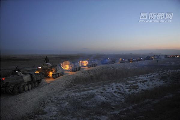 ▲中共解放軍在北韓邊境舉行實戰演習。(圖/翻攝自中國國防部)