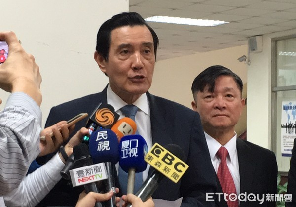 ▲▼前總統馬英九在開庭結束後面對媒體強調,他沒有濫用總統權力「我無罪!」(圖/記者楊佩琪攝)