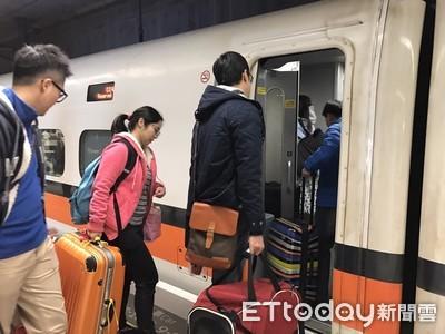 北返潮湧現 高鐵今再加開3班車