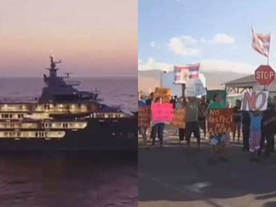 肉身擋億萬遊艇!居民嚇退富豪…停靠小島被誤會「入侵統治」
