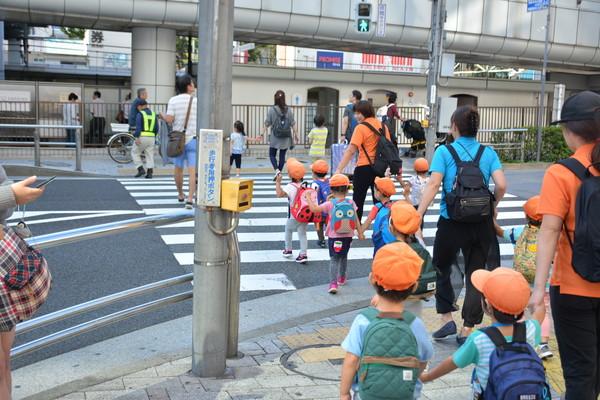 ▲▼日本小朋友過馬路舉手,斑馬線。(圖/記者李姿儀攝)