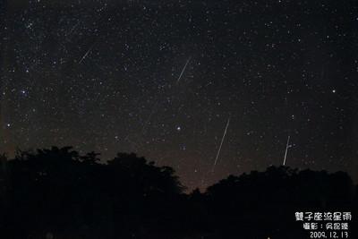 肉眼可見!雙子座流星雨今晚大爆發