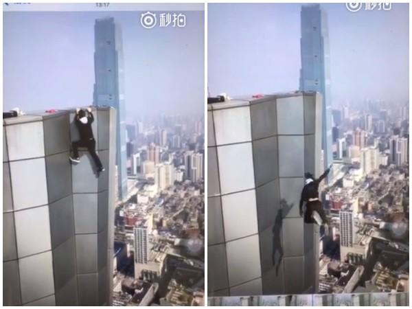 ▲極限玩家吳永寧墜樓。(圖/翻攝北京青年報)