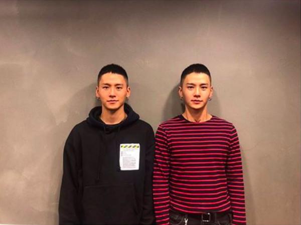▲▼「BIGBANG御用」超帥雙胞胎舞者當兵了! 剪成平頭還是好帥(圖/翻攝自權寧得、權寧敦IG)
