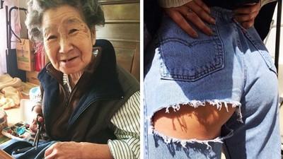 心疼牛仔褲「穿到破洞」 阿嬤流目油縫整夜…孫女氣到笑